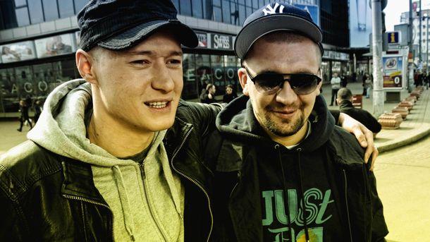 Андрій Хливнюк і Баста під час спільної роботи