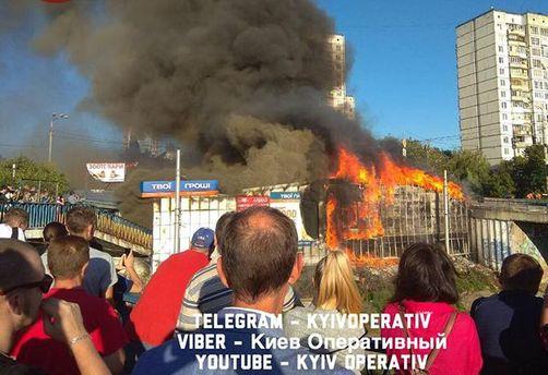 Пожежа на Борщагівці в Києві