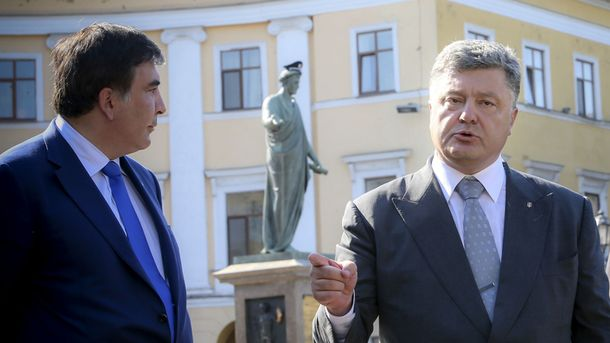 Западная пресса называет Саакашвили политическим врагом Порошенко