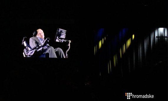 На консилиуме YES вКиеве появился Стивен Хокинг. Как голограмма