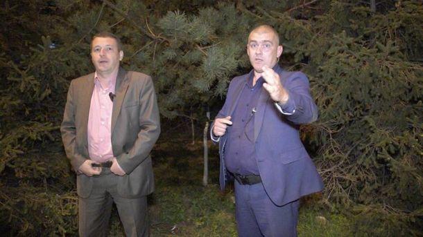 Журналіст заявив про напад збоку охорони біля ресторану, якому перебував Порошенко