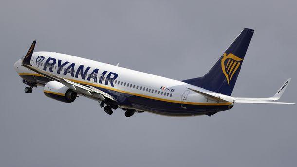 Літак авіакомпанії Ryanair