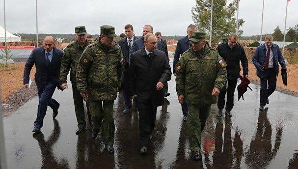 Путін прибув на військові навчання