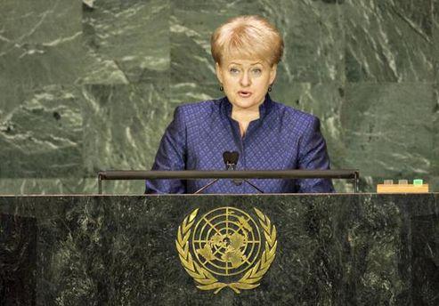 Грібаускайте звинуватила Росію в підготовці нападу на Захід