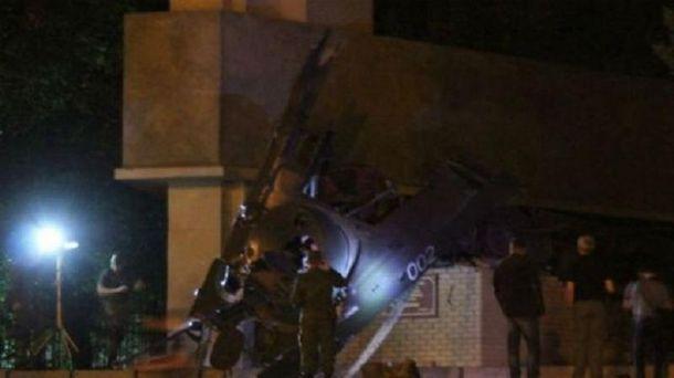 Підірваний пам'ятник у Луганську