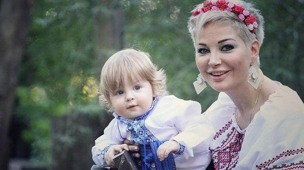 Марія Максакова разом із сином Іванком
