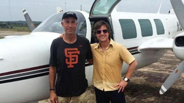 Том Крузі і Карлос Берл, який загинув на знімальному майданчику у 2015 році