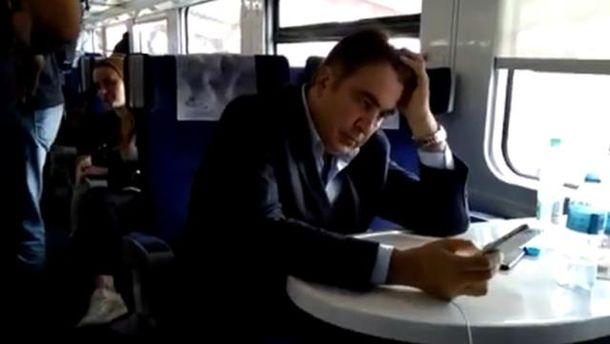 Саакашвілі в поїзді