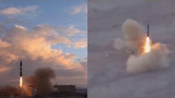 Запуск баллистической ракеты в Иране
