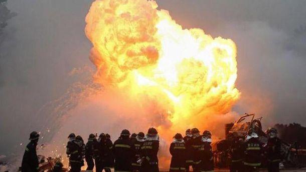 Взрыв на заводе фейерверков