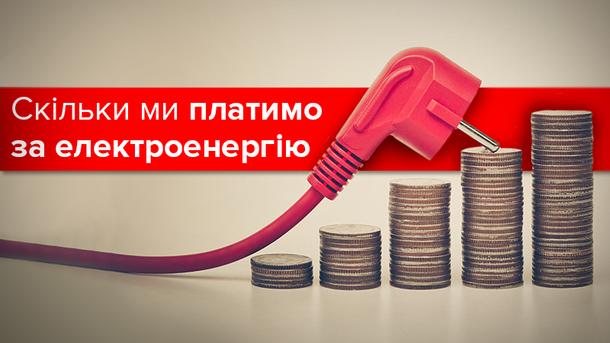 Тарифы на электроэнергию в Украине и Европе-2017