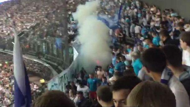 Стычки между фанатами «Зенита» иполицией произошли вовремя матча с«Краснодаром»