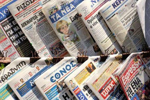 Работник всех СМИ Греции вышли напротесты