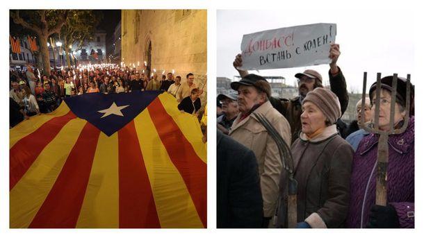 Сепаратисты Каталонии и Донбасса