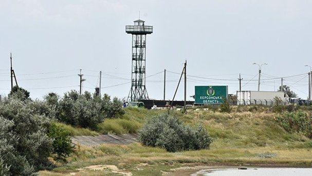 Административная граница АР Крым и Херсонской области