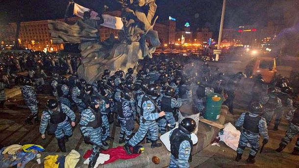 За разгон Майдана