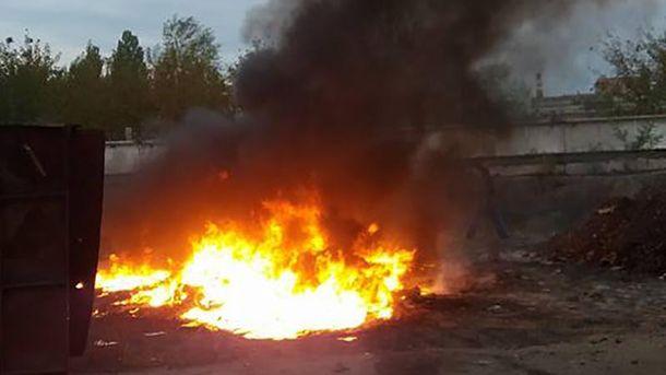В Кропивницкому под открытым небом жгли токсичные отходы
