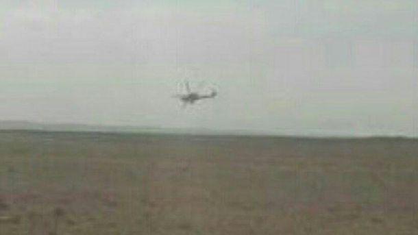 Падение российского вертолета