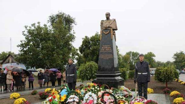 На Одещині відкрили пам'ятник російському генералу