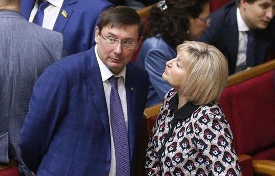 Луценко заступился за жену после ее призыва