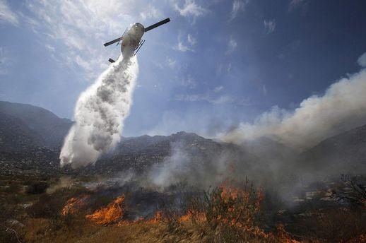 Лесные пожары вКалифорнии
