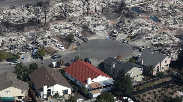 Последствия пожара в Калифорнии