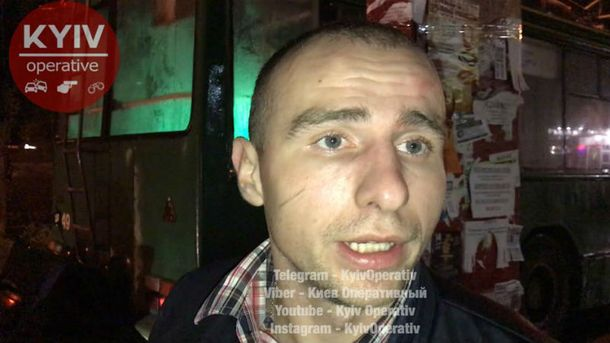 Пьяный водитель влетел в троллейбус, а затем пригрозил Гройсманом