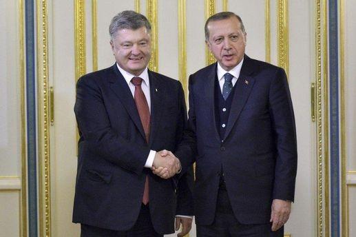 Зустріч з Ердоганом дає Україні всі підстави для оптимізму, – Порошенко