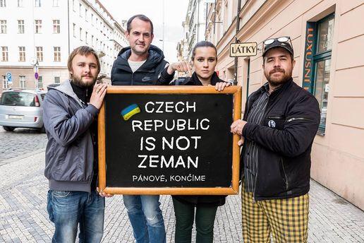 Чехи запустили флешмоб в поддержку украинцев