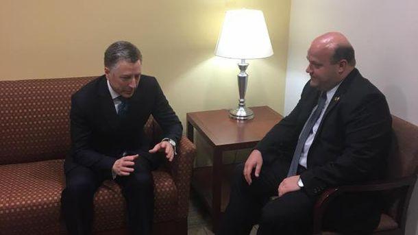 Украинский посол вСША встретился сспецпредставителем Госдепа Куртом Волкером