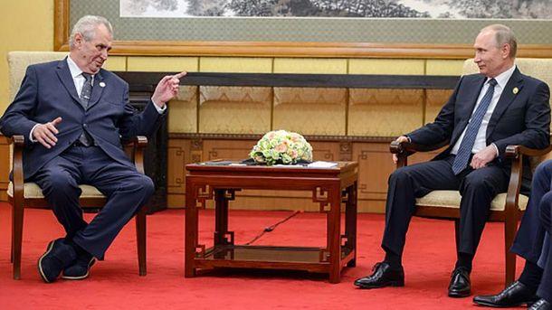 Президент Чехии Милош Земан и хозяин Кремля Владимир Путин
