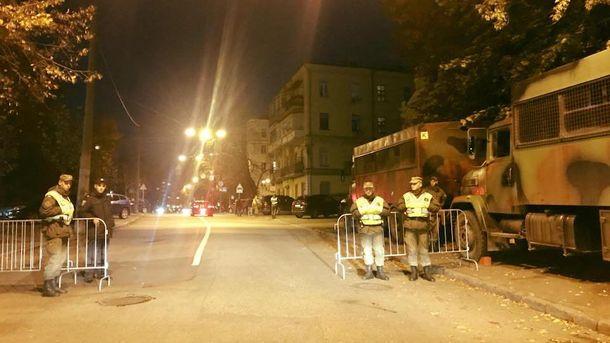 Центральные улицы украинской столицы перекрыты вдень митинга Саакашвили