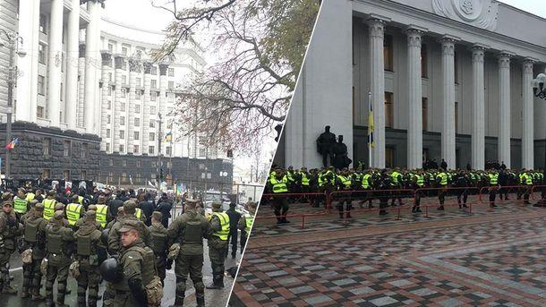 Здание Рады в Киеве окружено двойной цепью правоохранителей