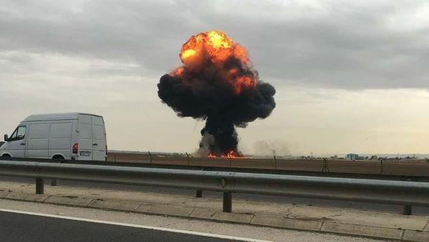 В Испании разбился истребитель, пилот погиб