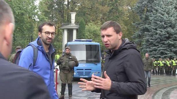 Владимир Парасюк во время столкновения с Валерием Гелетеем