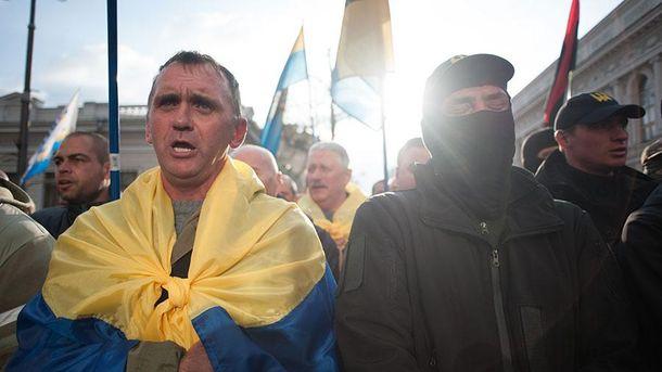 Митинг в Киеве 17 октября