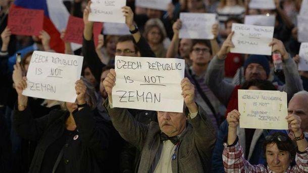 УЧехії відбувся протест через заяву Земана щодо окупованого Криму