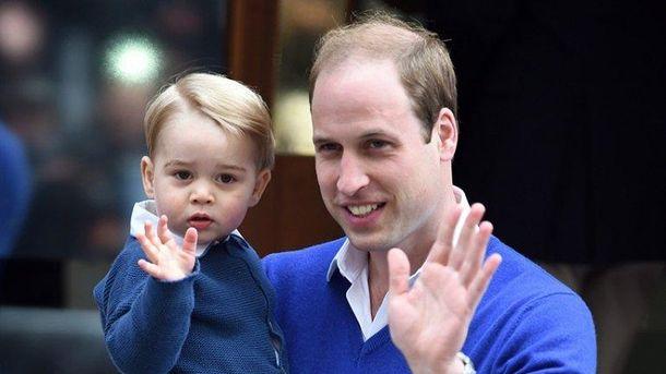 Принц Уильям с сыном принцем Гарри