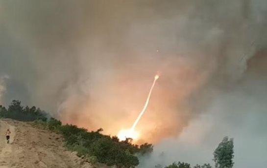 Вовремя пожара вПортугалии удалось снять навидео уникальное огненное торнадо
