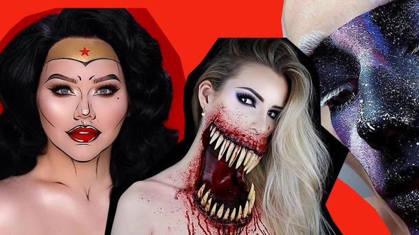 Как сделать макияж на Хэллоуин 2017