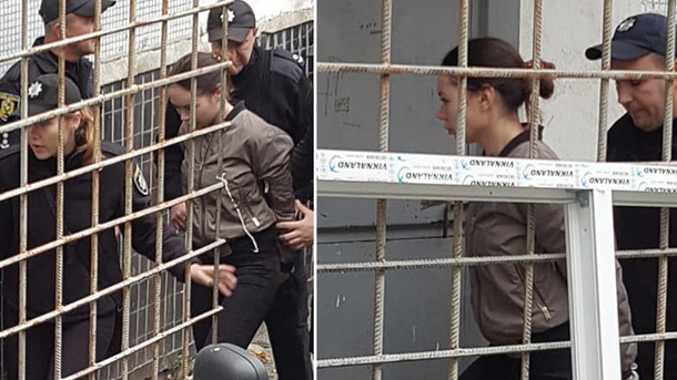 Зайцеву, которая на Lexus задавила людей в Харькове, привезли в суд