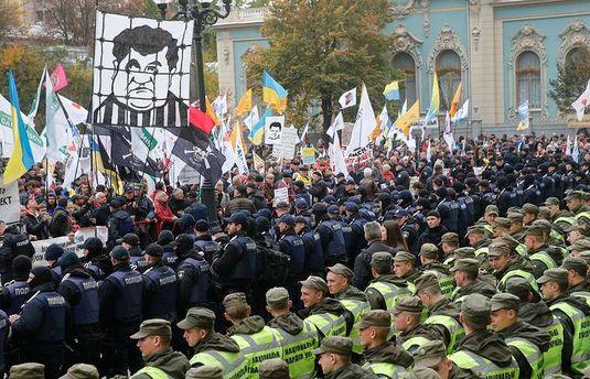 Украинский протестный элемент стал гурманом. Ему нужны смерти и кровь в центре столицы