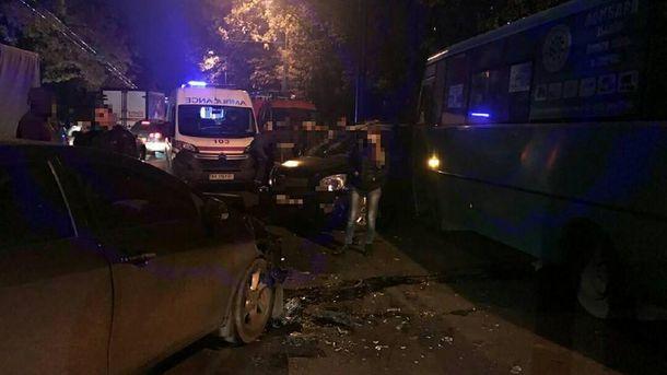 Тройное пьяное ДТП произошло в Харькове