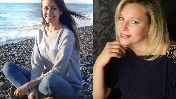 Настя и Алла Сокол, которые погибли в Харькове в ДТП