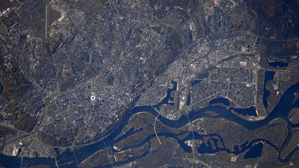 Как выглядит Киев из космоса: фото от астронавта NASA