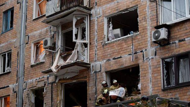Наслідки вибуху у центрі Донецька