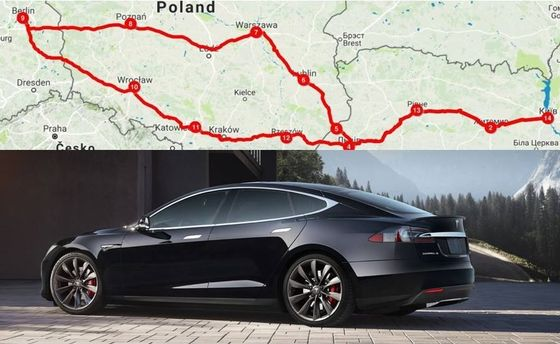 В Європу на електромобілі – безкоштовно