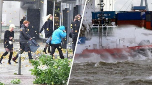 На Німеччину обрушився ураган «Герварт»: опубліковані страхітливі відео