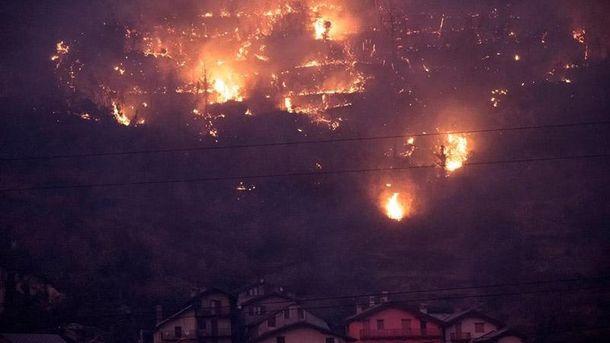 В Італії продовжує горіти ліс