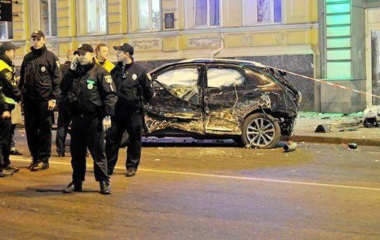 Место аварии в Харькове